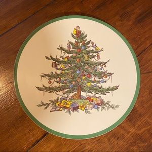 Spode Christmas Tree Placemat Trivet Cork